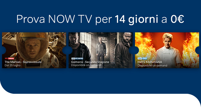 Prova NOW TV per 14 giorni a 0€